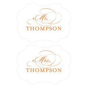 Personalized Mr. & Mrs. Signs for Chairs image