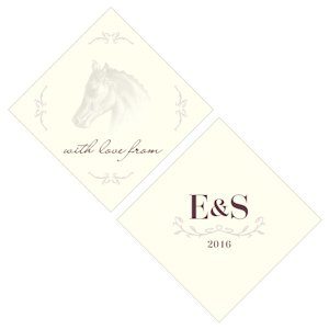 Equestrian Love Square Tag (Set of 20 - 3 Designs) image