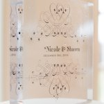 Fanciful Personalized Clear Acrylic Block Cake Topper