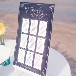 Chalkboard Print Design Personalized Seating Chart image