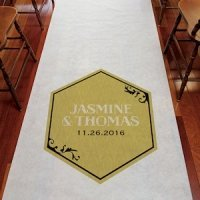 Black and Gold Opulence Aisle Runner for Wedding Ceremony