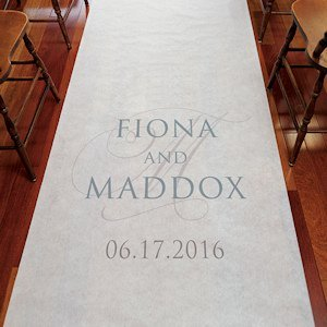 Contemporary Vintage Personalized Aisle Runner image