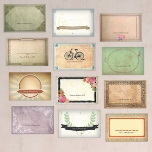 Vintage Medley Large Rectangular Card Set (Set of 12) image