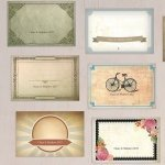 Vintage Medley Large Rectangular Card Set (Set of 12)