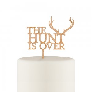 The Hunt Is Over Cake Topper image