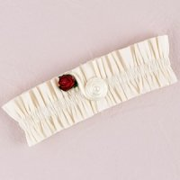 Romantic Red Flower of Love Garter