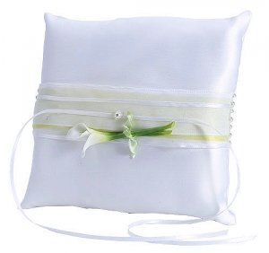 Calla Lily Square Ring Bearer Pillow image