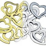 Stylized Open Heart Confetti