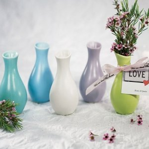 Mini Colored Favor Vases (Package of 6) image