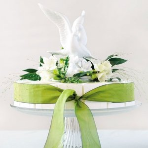 Glazed Porcelain Doves Cake Topper image