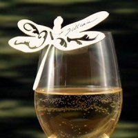 Laser Dragonfly Die Cut Place Card - Set of 6 (6 Colors)