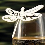 Laser Dragonfly Die Cut Place Card (Set of 12)