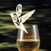 Laser Expressions Hummingbird Die Cut Card - Set of 12