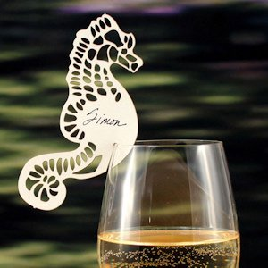 Laser Expressions Seahorse Die Cut Card - Set of 12 image