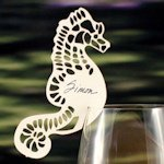Laser Expressions Seahorse Die Cut Card - Set of 12