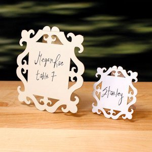 Laser Expressions Square Baroque Frame Sign (2 Sizes) image