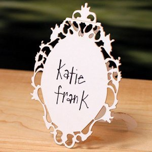 Laser Expressions Small Oval Baroque Frame Folded Sign image