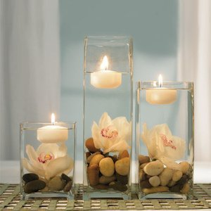 Miniature Round Floating Candles (Set of 20) image