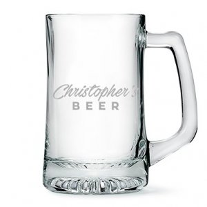 Engraved Casual Etching Glass Beer Mug Gift image