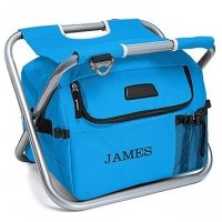 Personalized Cooler Chair - Blue or Black