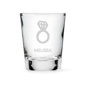 Diamond Ring Etching Personalized Shot Glass image