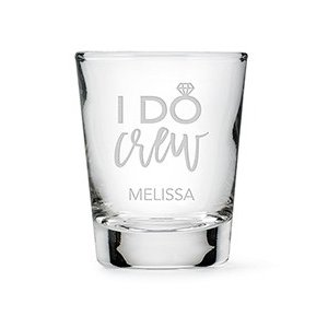 I Do Crew Personalized Shot Glass image