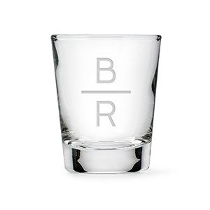 Stacked Monogram Etching Personalized Shot Glass image
