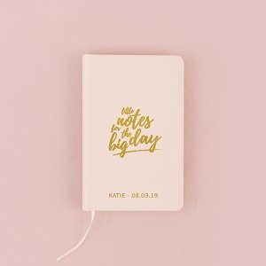 Wedding Notes Embossed Linen Pocket Journal - (2 Colors) image