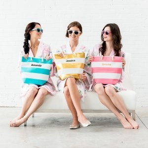 Bliss Personalized Striped Tote (5 Colors) image