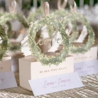 Love Wreath Favor Box (Set of 10)