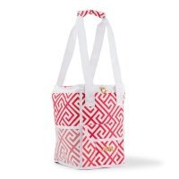 Personalized Pink & White Greek Key Design On-The-Go Cooler