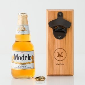 Typewriter Monogram Wood Wall Mount Bottle Opener image