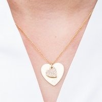 Crystal Double Swing Heart Necklace (3 Colors)