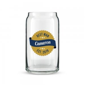 Gold Seal Personalized Beer Can Shaped Glass image