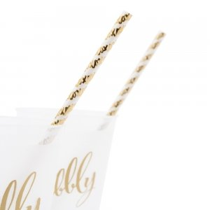 Gold Foil X&Os Paper Drinking Straws image