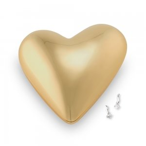 Gold Modern Heart Jewelry Box image