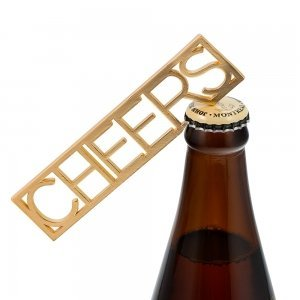 Gold CHEERS Bottle Opener Wedding Favor image