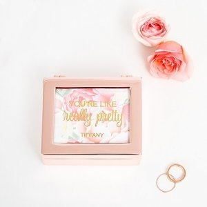 Small Modern Floral Personalized Jewelry Box image