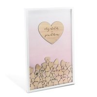 Aqueous Wedding Drop Box Guest Book with Hearts (Many Colors