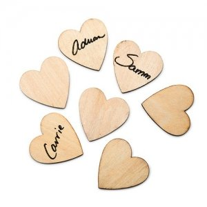 Small Wooden Craft Hearts image