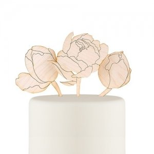 Modern Bloom Cake Topper Set image