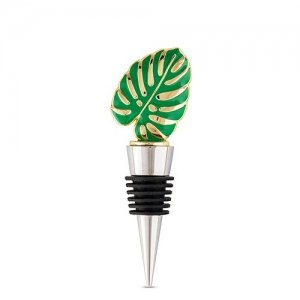 Green Tropical Leaf Bottle Stopper image