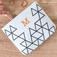 Geo Print Personalized Small Makeup Bag