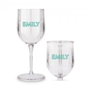 Summer Vibes Personalized Portable Nesting Wine Glass image