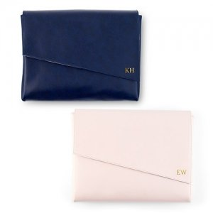 Faux Leather Clutch - Pink or Navy image