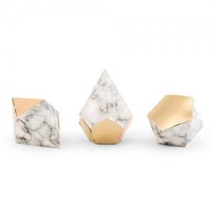 Modern Geo Marble And Gold Party Favor Boxes image