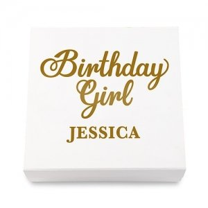 Birthday Girl Premium Gift Box - White or Black image