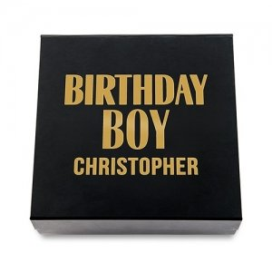 Birthday Boy Premium Gift Box - White or Black image