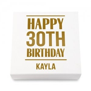 Birthday Years Premium Gift Box - White or Black image