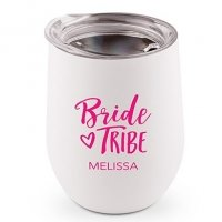 Bride Tribe Personalized Stemless Travel Tumbler (Color Opti